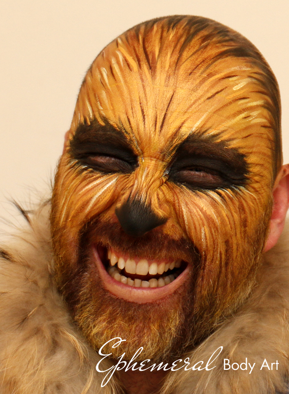 Chewbacca Face Painting