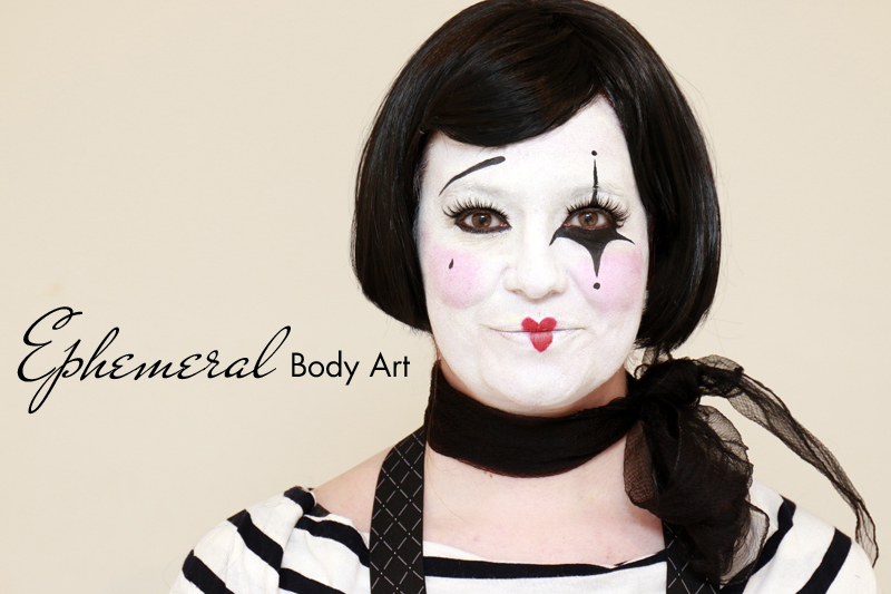 Mime Face Painting