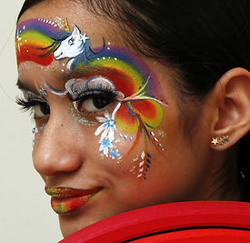Kids party face painting West London