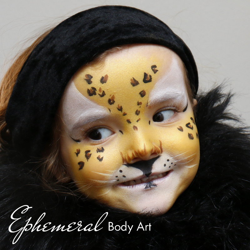 Leopardess Face painting