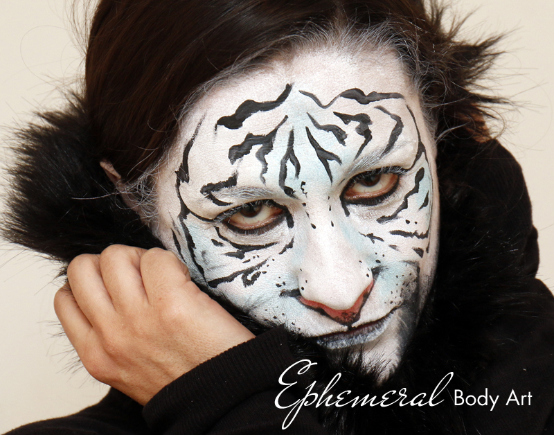 White Tigress Face Painting