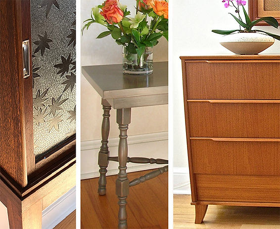 cabinet, table and dresser makeover