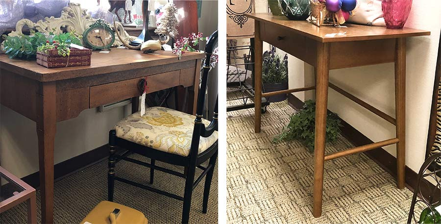 Desks at consignment stores