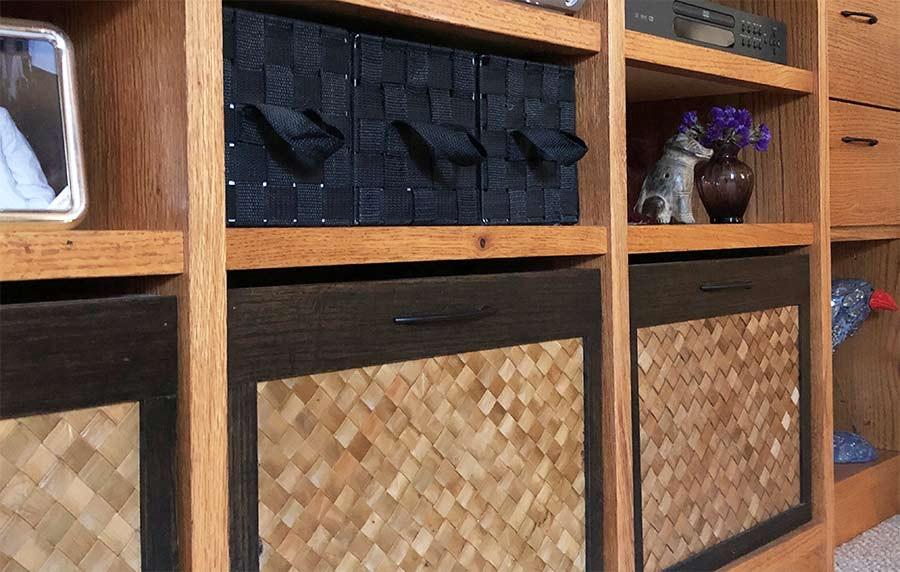 Custom-designed storage bins