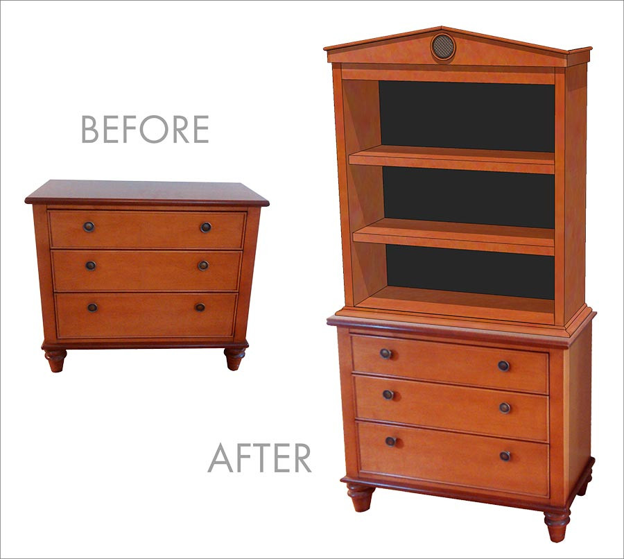 Dresser with added hutch