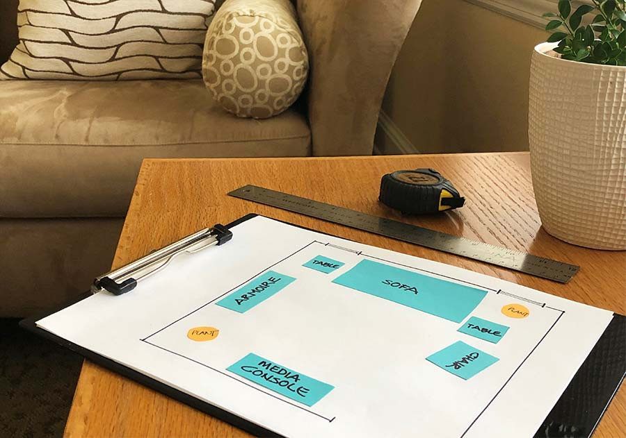 Getting organized with your furniture and maximize what you already have.
