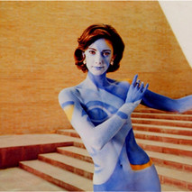 Picasso painted onto model's body for Citroën Picasso ad