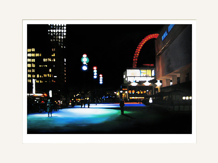 Wheel Seen from Royal Festival Hall - Signed Giclée Print (Mounted)