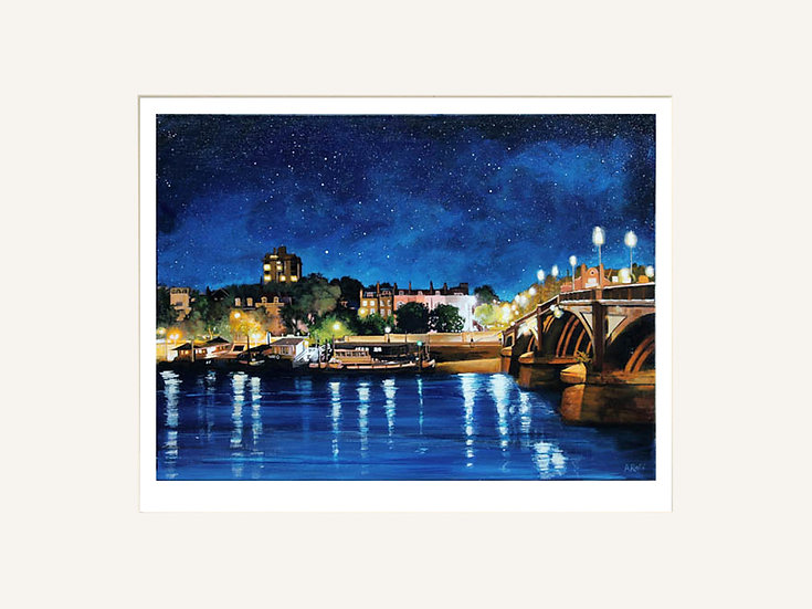 Battersea Bridge to Cheyne Walk - Signed limited edition print
