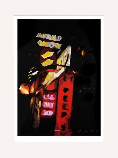 Soho Signs - Signed Giclée Print (Mounted)