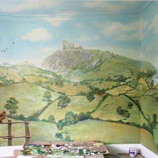 Poyntington bedroom wall