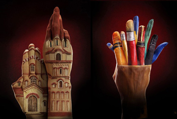Ecclesiastical advertisment - Bodypainting