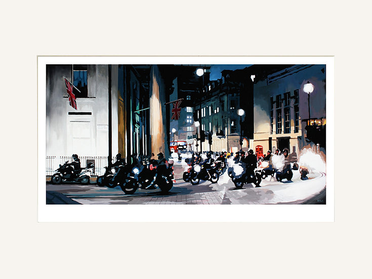 Bikers in Trafalgar Square - Signed limited edition print
