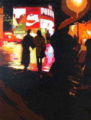 Theatreland - Original acrylic on canvas