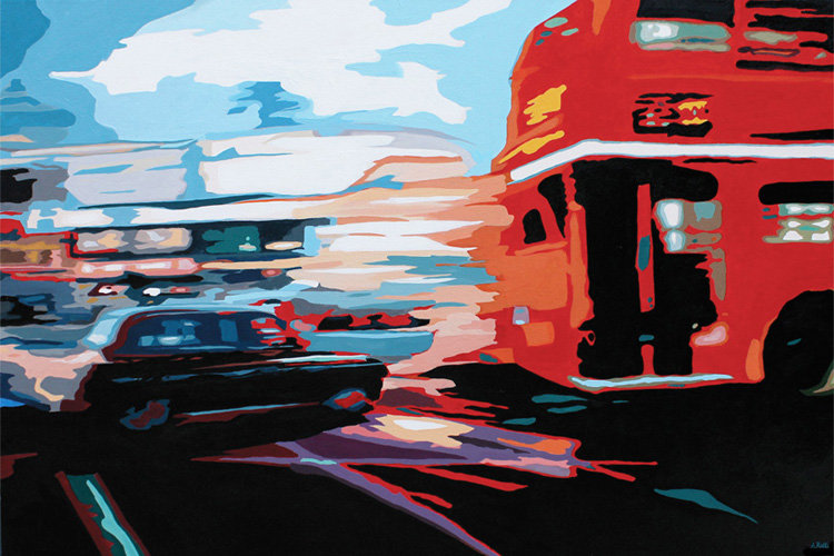 Rush Hour - Original acrylic on canvas