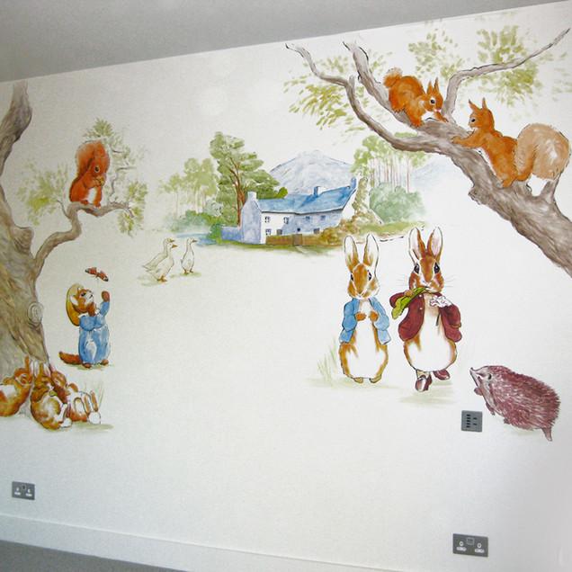 Peter Rabbit bedroom wall