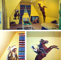 western theme bedroom
