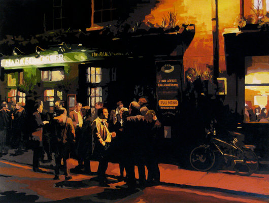 The Market Porter - Original acrylic on canvas