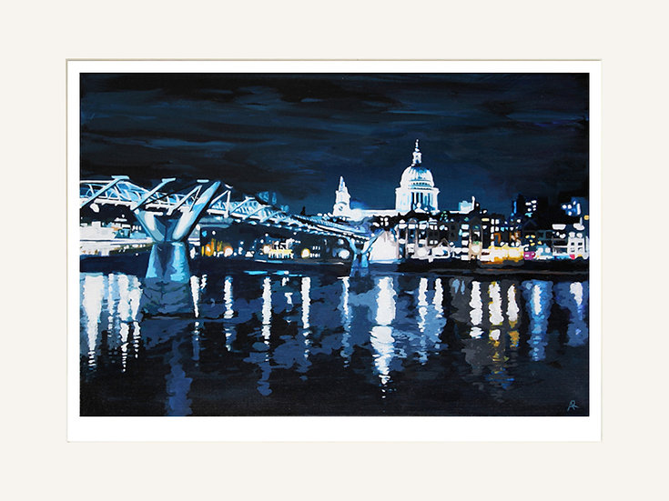 Millennium Bridge - Signed limited edition print