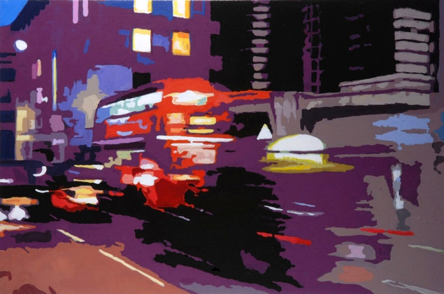 Red Rush - Original acrylic on canvas