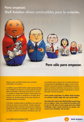 painted Russian dolls for Shell ad