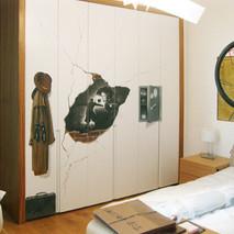 spy theme bedroom cupboard doors