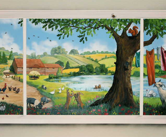 farmyard window