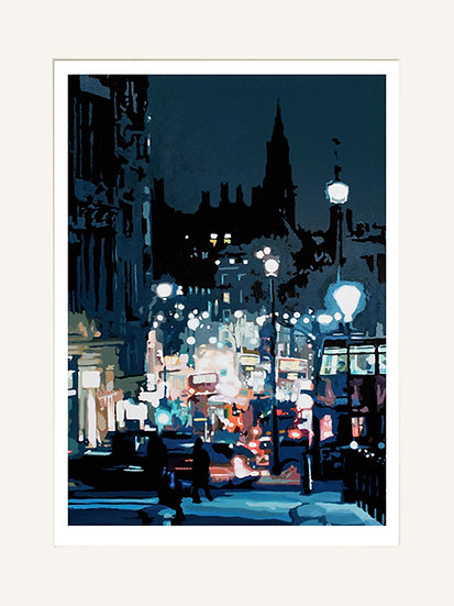 Whitehall from Trafalgar Square - Signed Giclée Print (Mounted)