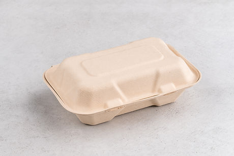 850ml Bagasse Clamshell