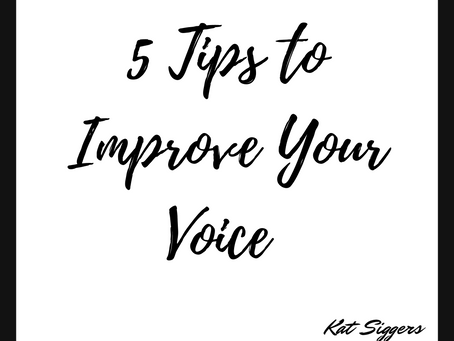 5 Tips to Improve Your Voice
