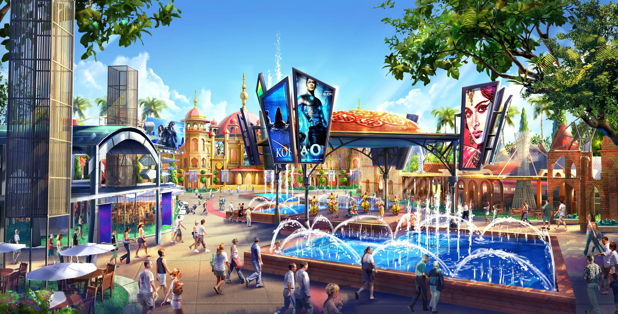 Dubai Parks - Bollywood-Plaza