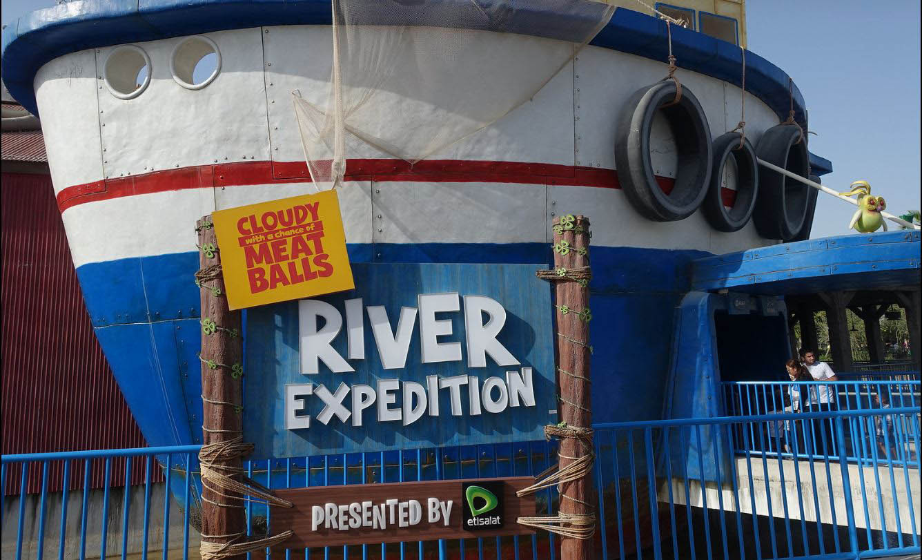 Dubai Parks_Motiongate_Cloudy With a Chance_River Expedition