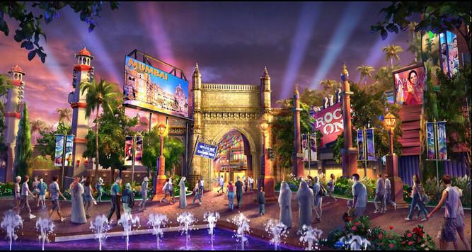 Dubai Parks - Bollywood-Mumbai Street