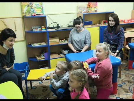 В центре развития ребенка «Лучик» реализуется проект кружка «Играя, развиваюсь»