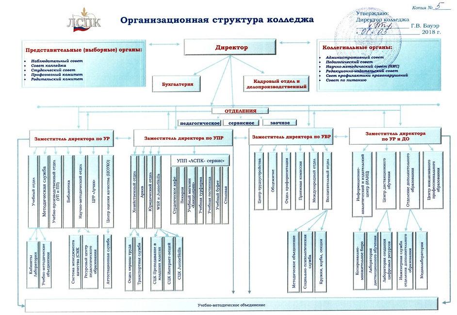 Оргструктура ГАПОУ КК ЛСПК