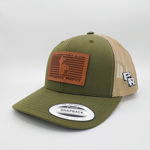 Project Refit Leather Patch Green Hat