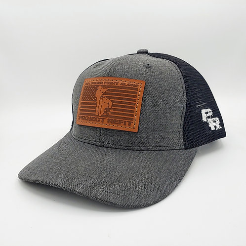 Project Refit Leather Patch Charcoal Hat