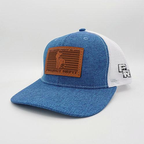 Project Refit Leather Patch Blue Hat