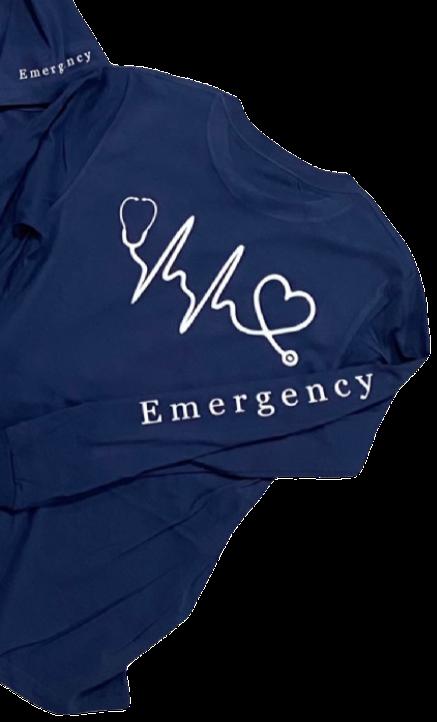 Stethoscope EKG - Long Sleeve (Unisex)