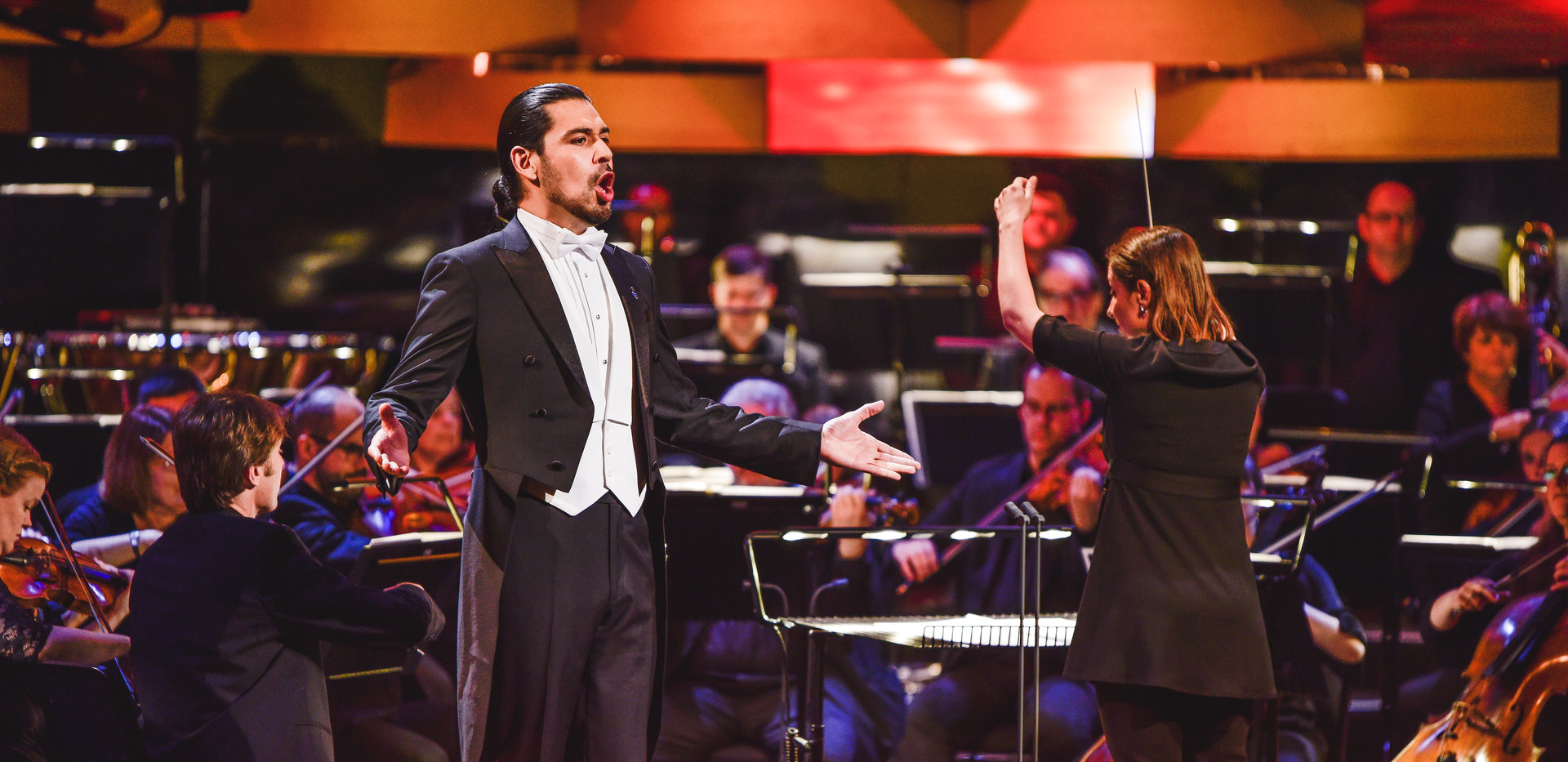 Ariane Matiakh - conductor Welsh National Opera Orchestra 2019 BBC Cardiff Singer of the World photo - Kirsten McTernan