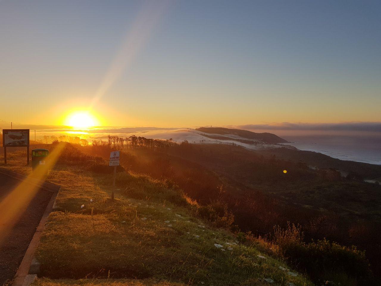 Sunrise over the Western Head, Knysna