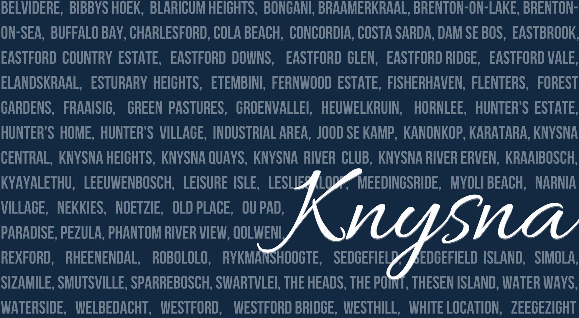 Knysna's Distinct Suburbs