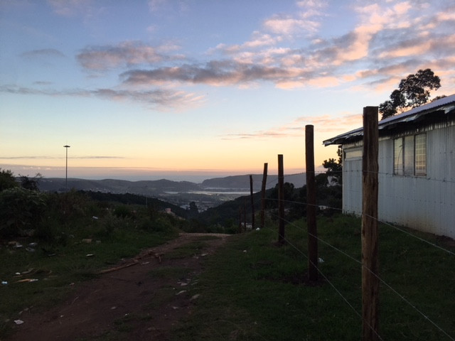 View to the Indian Ocean from Knysna Township