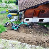 Terrassement pour future construction de garage (2/2)