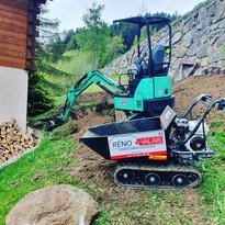 Terrassement pour future construction de garage (1/2)