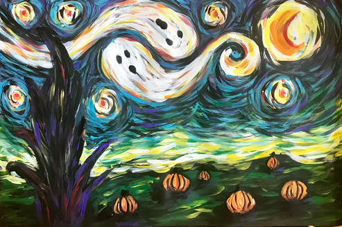 Van Gogh's Spooky Night