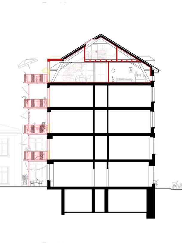 Dachausbau und Balkone