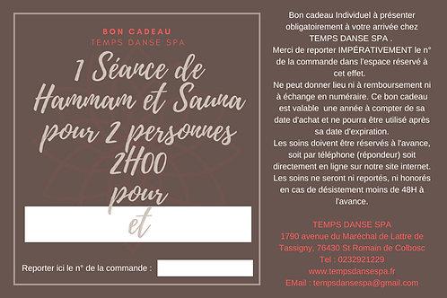 HAMMAM/SAUNA POUR 2
