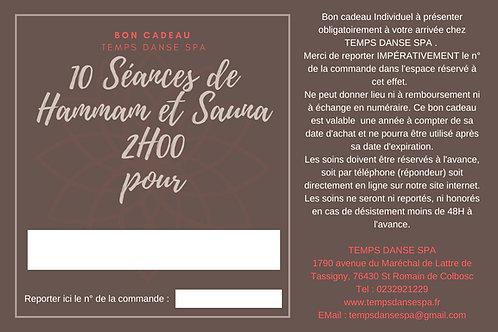 10 SEANCES DE HAMMAM/SAUNA