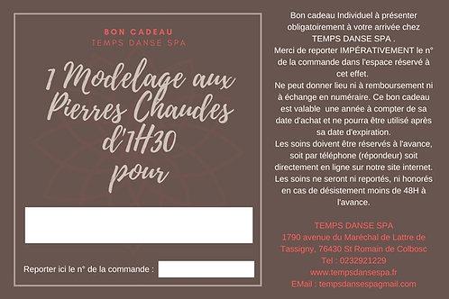 BON CADEAU MODELAGE AUX PIERRES CHAUDES